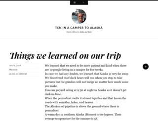 trippingtoalaska.wordpress.com screenshot