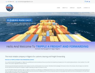 trippleafreightforwarder.com screenshot