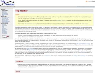 triptracker.sourceforge.net screenshot