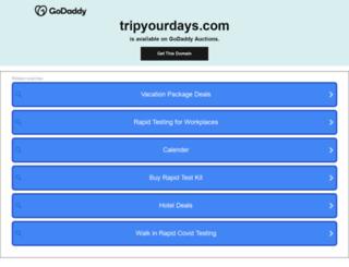 tripyourdays.com screenshot