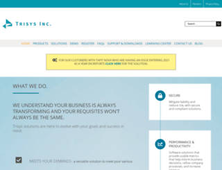 trisys.com screenshot