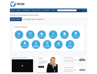 tritondigitalsupport.com screenshot