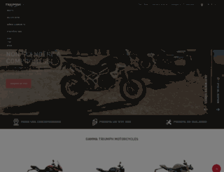 triumphmotorcycles.it screenshot