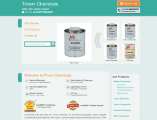 trivenichemicals.com screenshot