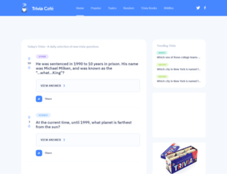 triviacafe.com screenshot