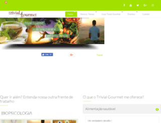 trivialgourmet.com.br screenshot