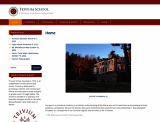 triviumschool.com screenshot