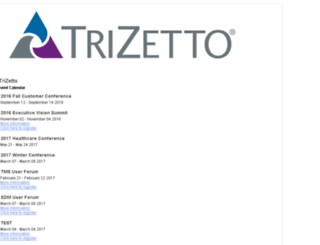 trizetto.expoplanner.com screenshot