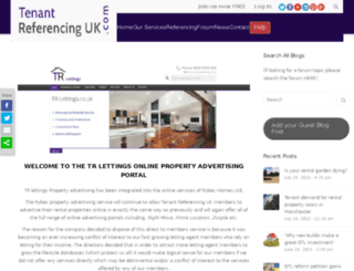 trlettings.co.uk screenshot