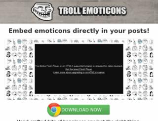 trollemoticons.com screenshot