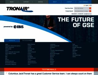 tronair.com screenshot