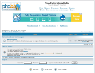 trondheimfrisbeeklubb.forumsland.com screenshot