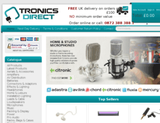 tronicsdirect.co.uk screenshot