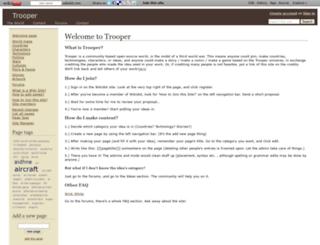 trooperworld.wikidot.com screenshot