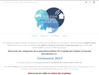 trophee-objets-connectes.fr screenshot