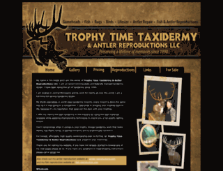 trophytimetaxidermy.com screenshot