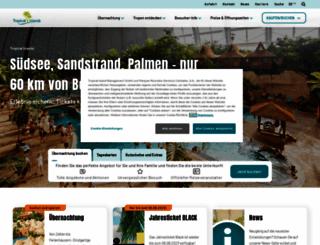 tropical-islands.de screenshot