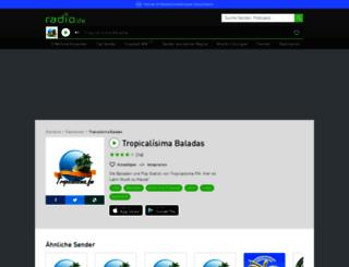 tropicalisimabaladas.radio.de screenshot