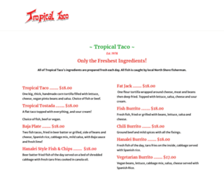tropicaltaco.com screenshot