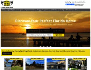 tropicshoresrealty.com screenshot