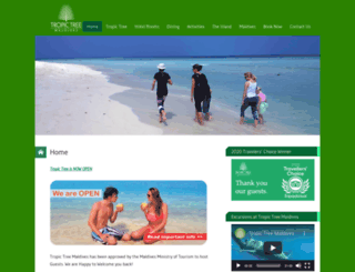 tropictreemaldives.com screenshot