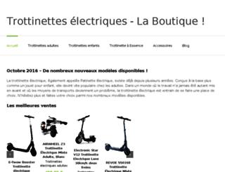 trotinettes-electriques.com screenshot