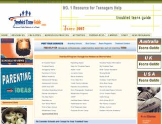 troubledteensguide.com screenshot