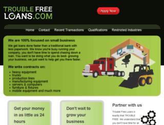 troublefreeloans.com screenshot