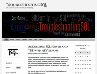 troubleshootingsql.com screenshot
