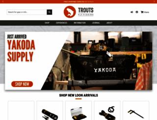 troutsflyfishing.com screenshot