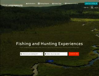 troutunderground.com screenshot