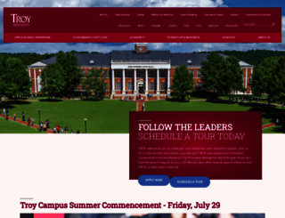 troy.edu screenshot