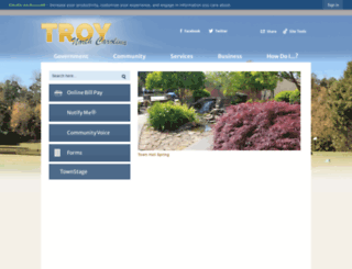 troy.nc.us screenshot