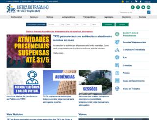 trt5.jus.br screenshot