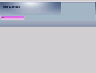 trucastuce.eklablog.com screenshot