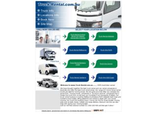 truck-rental.com.au screenshot