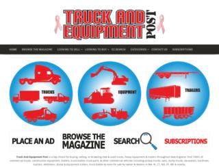 truckandequipmentpost.com screenshot