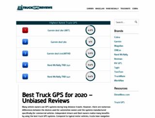 truckgpsreviews.com screenshot