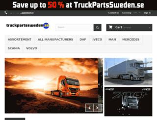 truckpartssweden.se screenshot