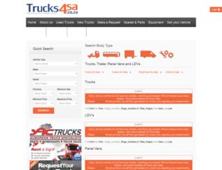 trucks4sa.co.za screenshot