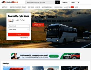 trucksdekho.com screenshot