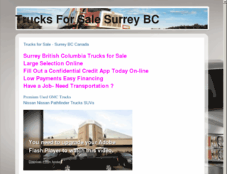 trucksforsalesurrey.com screenshot