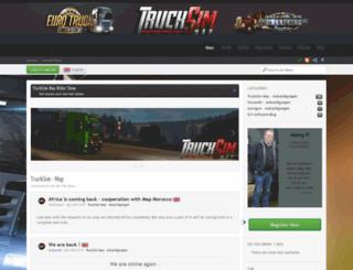 trucksim-map.com screenshot