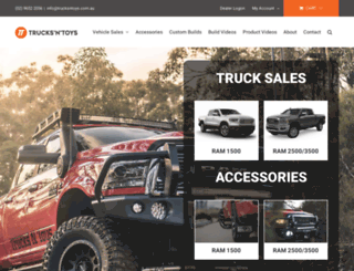 trucksntoys.com.au screenshot