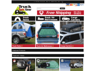 trucktentgear.com screenshot