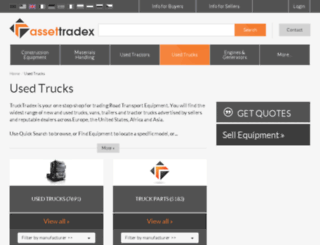 trucktradex.co.uk screenshot