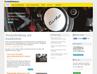 truckutbildning.se screenshot