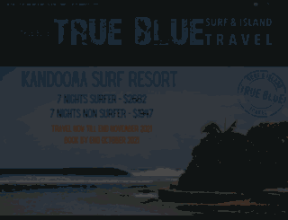 truebluetravel.co.za screenshot