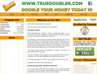 truedoubler.com screenshot