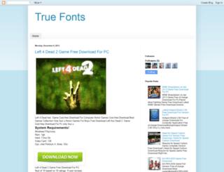 truefonts.blogspot.be screenshot